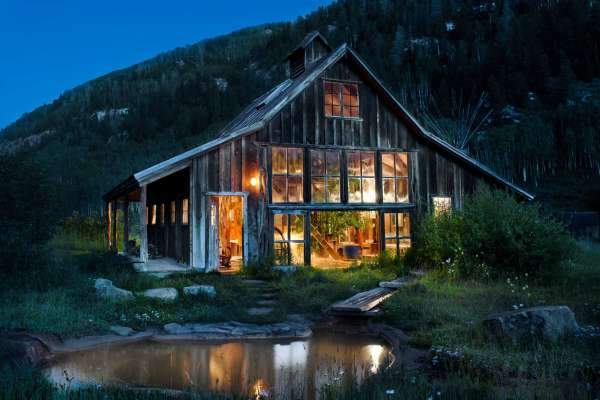 Dunton Hot Springs Bathouse at Dusk