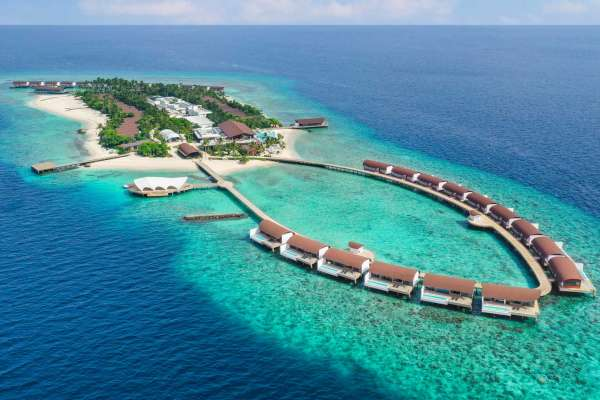 The Westin Maldives Mirandhoo Resort Luftansicht