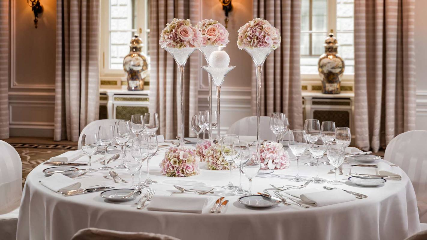 Baur au Lac Zurich Wedding Table