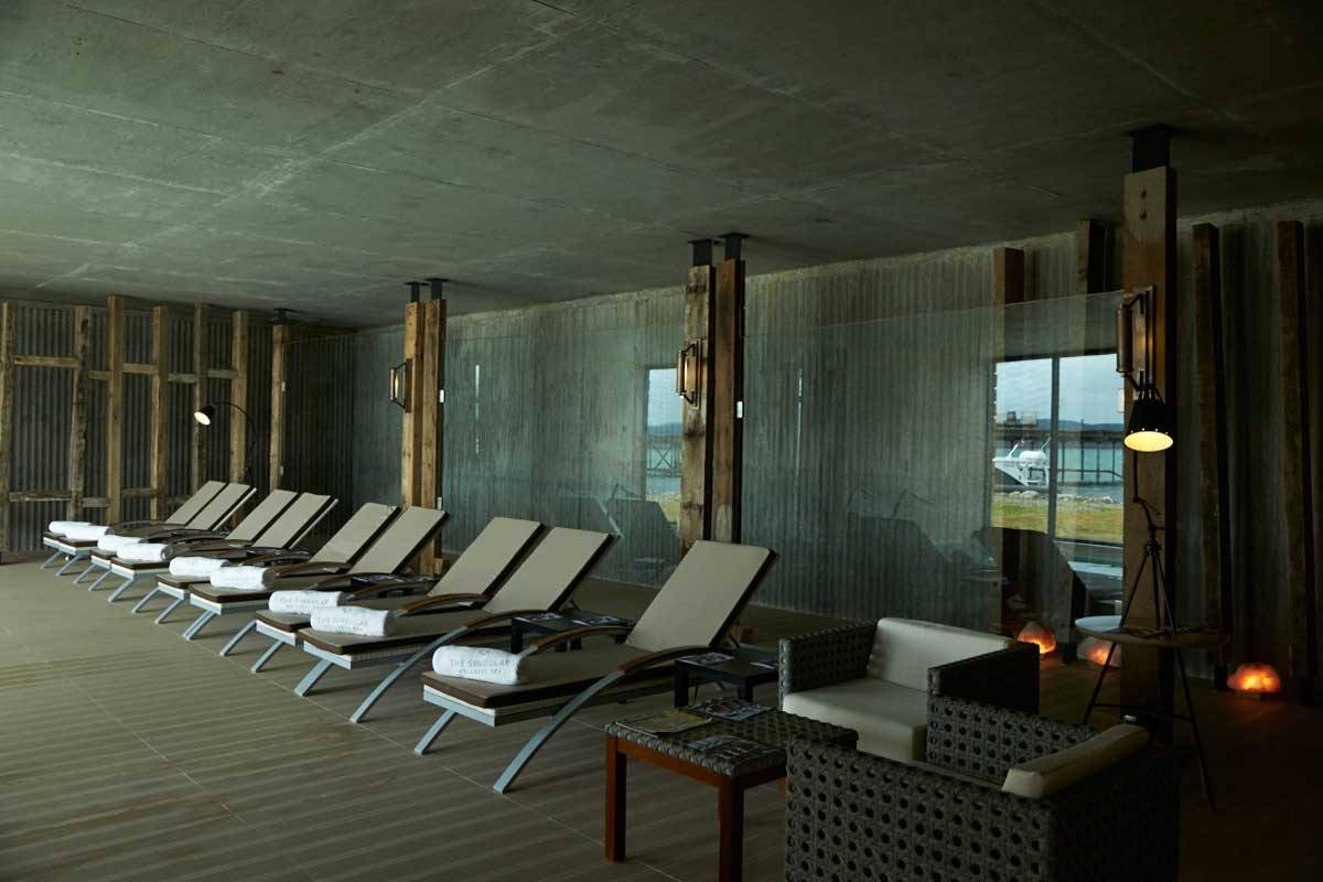 The Singular Patagonia Spa Relaxation Area