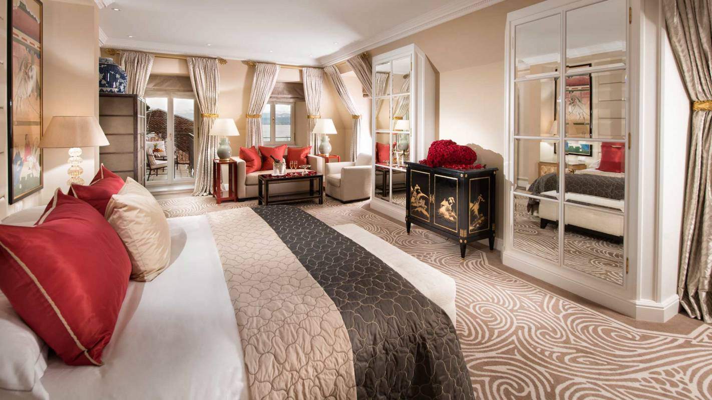 Baur au Lac Deluxe Junior Suite facing the lake
