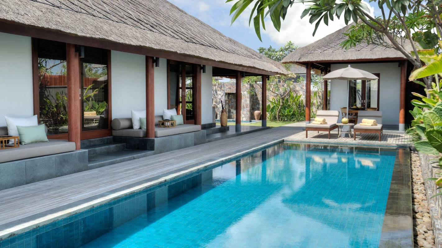 The Legian Sire Lombok Pool Villa Pool Exterior View