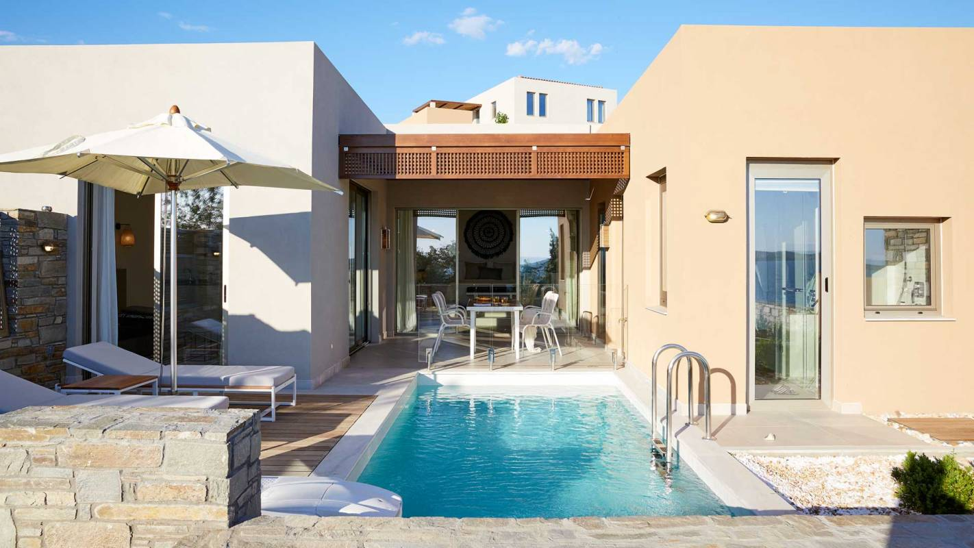 Eagles Villas Halkidiki Pool Villa Pool and Terrace